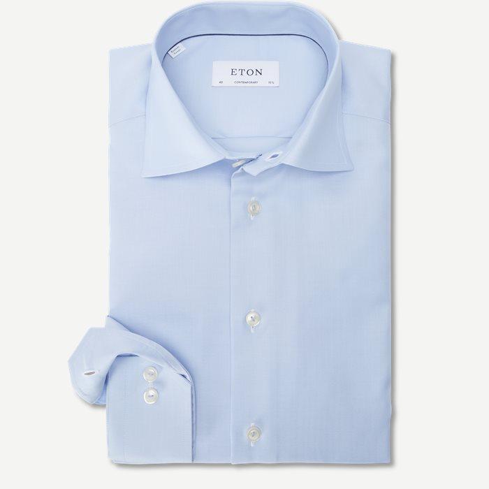 3153 Signature Twill Skjorte - Skjorter - Blå